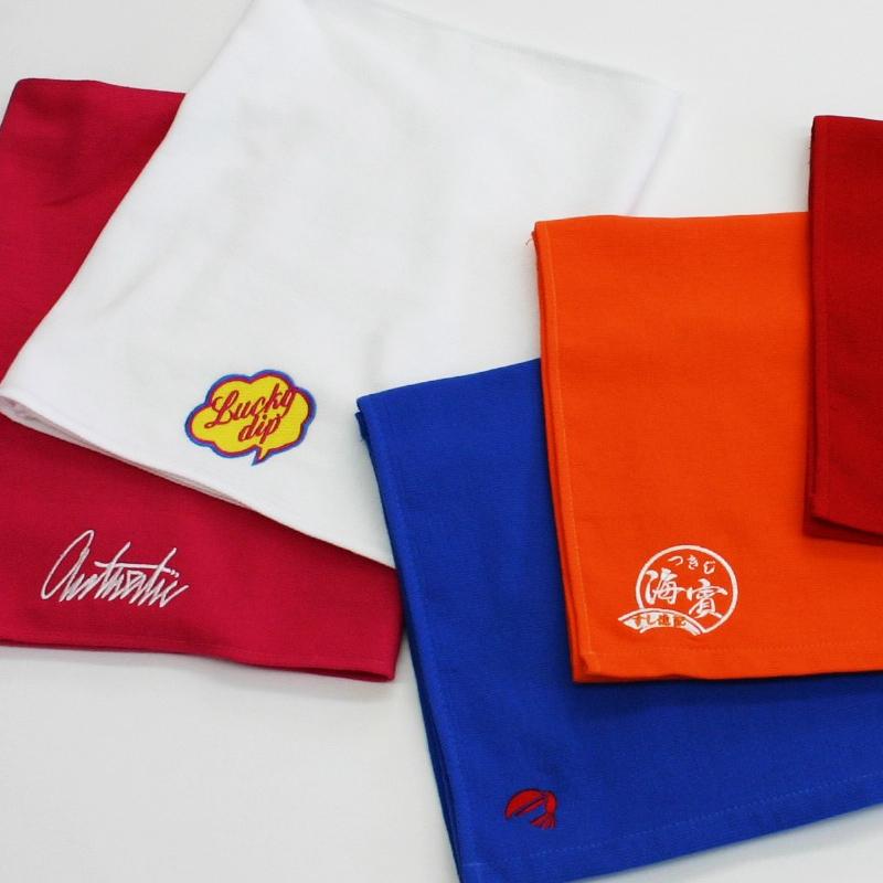 オリジナル刺繍タオル