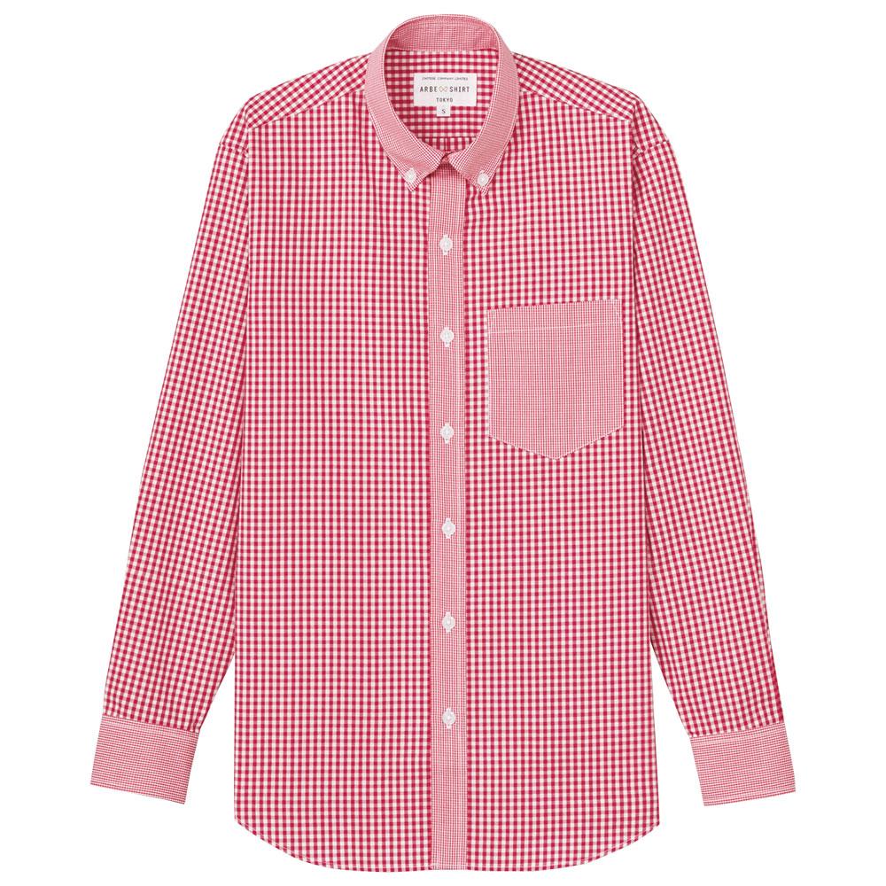 飲食ウェア 刺繍 長袖ボタンダウンシャツ EP-8533